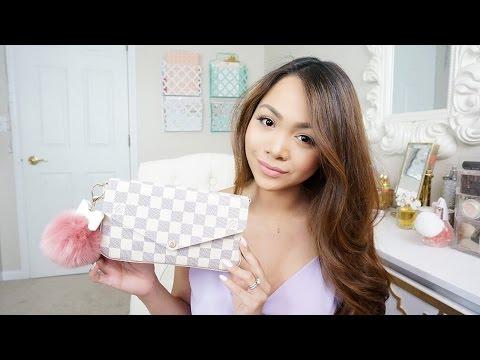 What's in my Bag + REVIEW! | Louis Vuitton Pochette Felicie Damier Azur | Charmaine Dulak