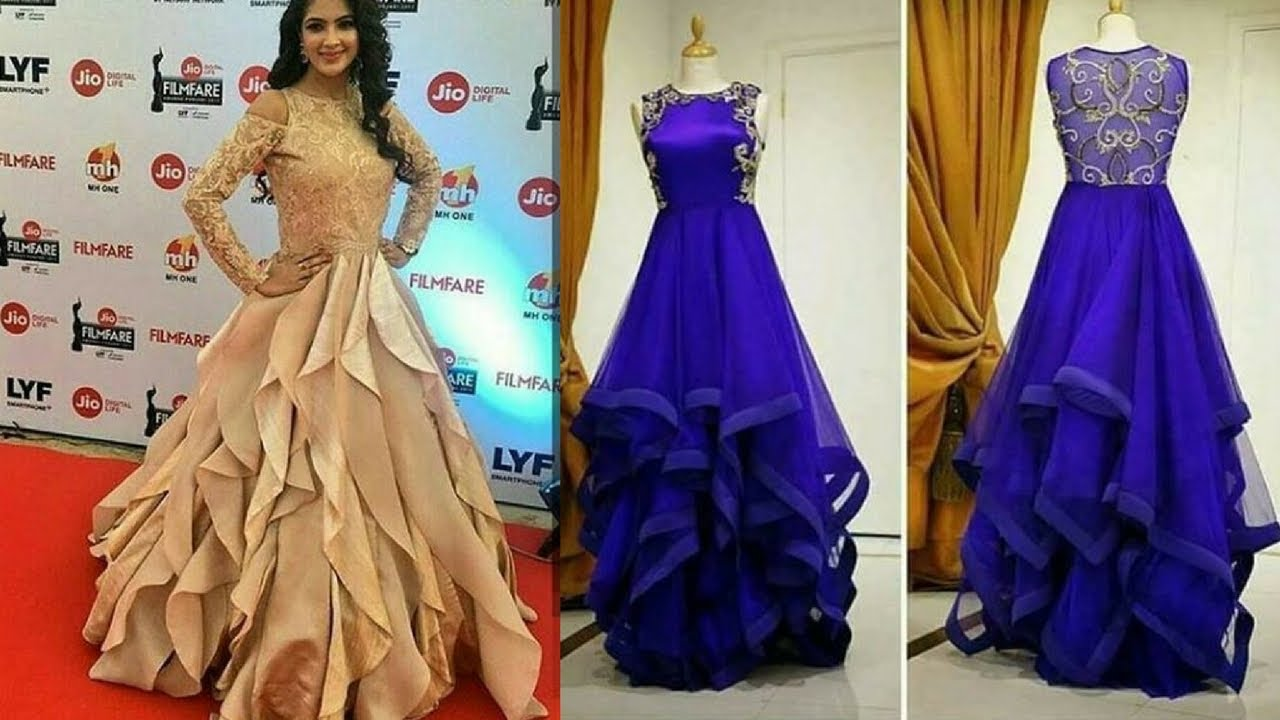 Latest Party Wear Long Gown Dresses Designs - YouTube