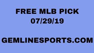 Jimmy Moore FREE MLB PICK 7-29-19
