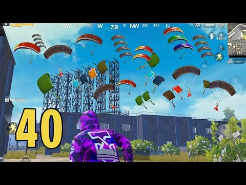 40 People Landed In Military Base | PUBG Mobile