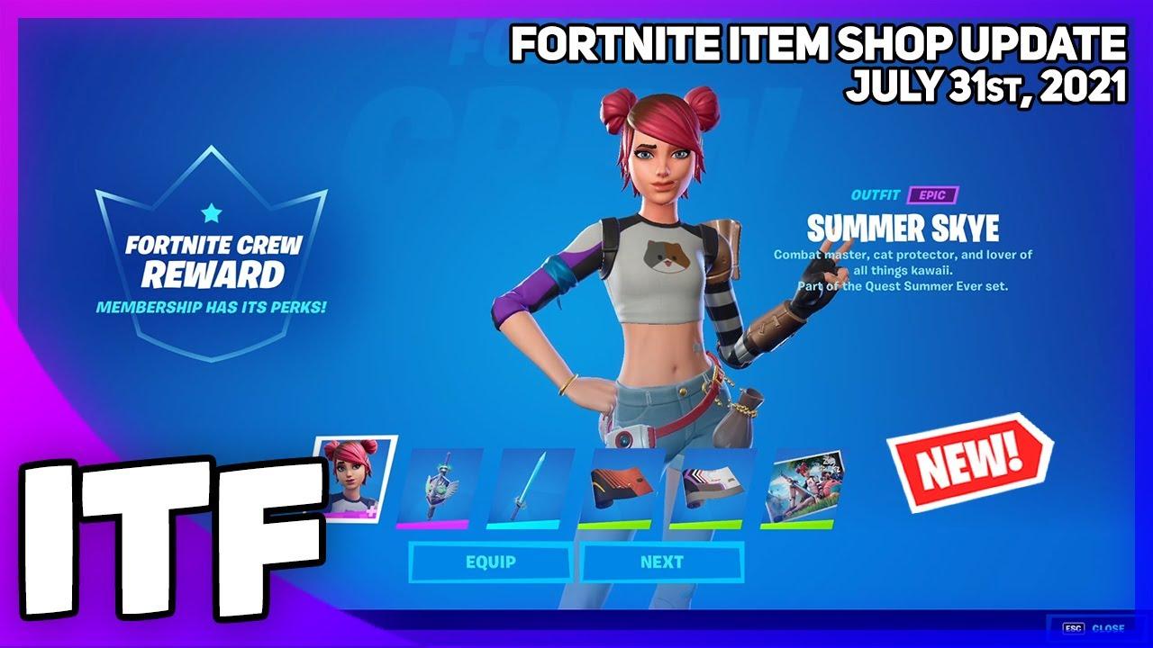 Fortnite Item Shop *NEW* SUMMER SKYE SET! [July 31st, 2021] (Fortnite Battle Royale)