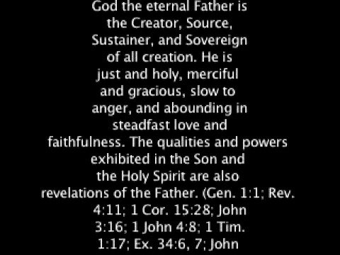 SEVEN DAY ADVENTIST -SDA - FUNDAMENTAL BELIEF NR. 3 - FATHER