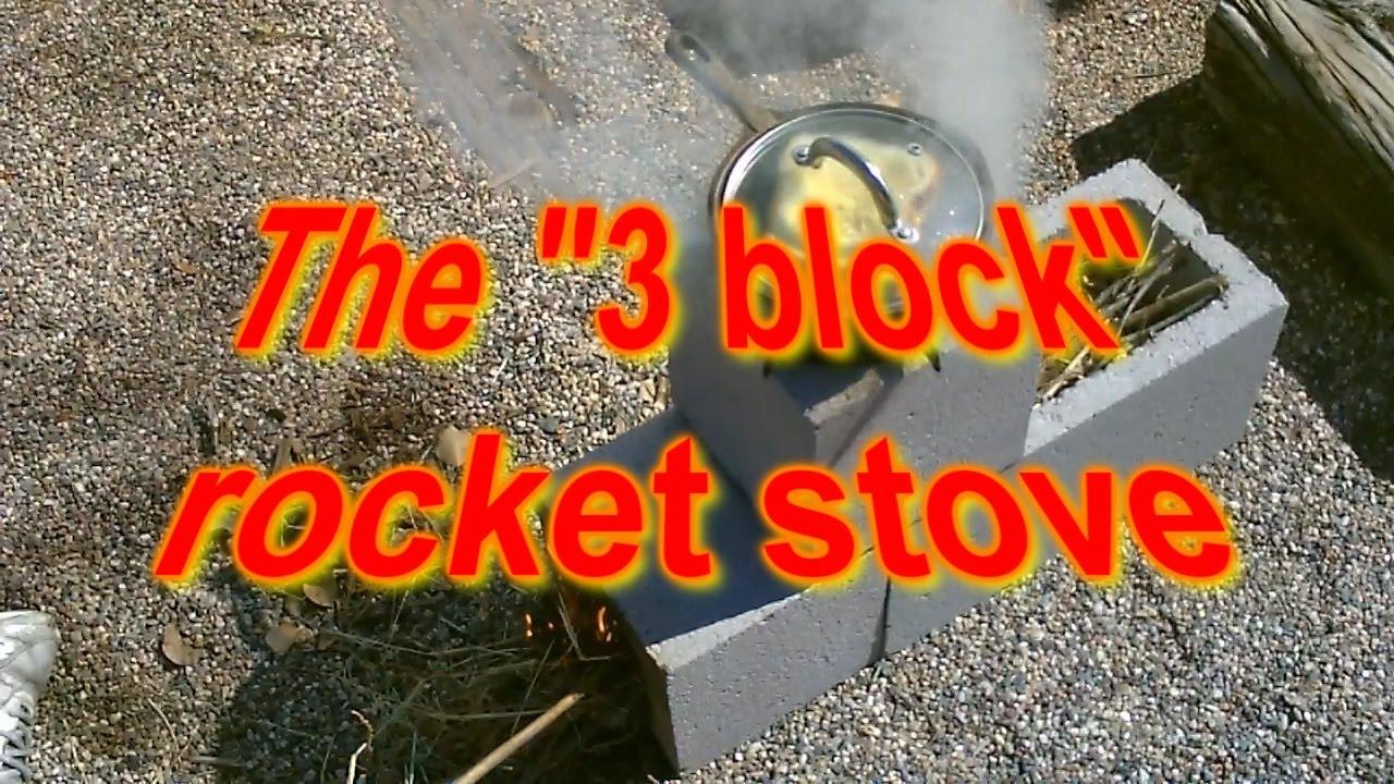 The Quot 3 Block Quot Rocket Stove Concrete Rocket Stove And