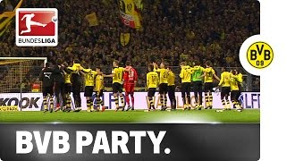 Dortmund Fans and Players Sing Jingle Bells