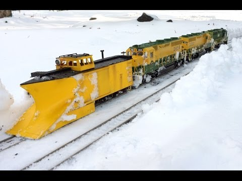 Modelling Railway Toy Train Track Plans -Reading RR Plow Train – G Scale