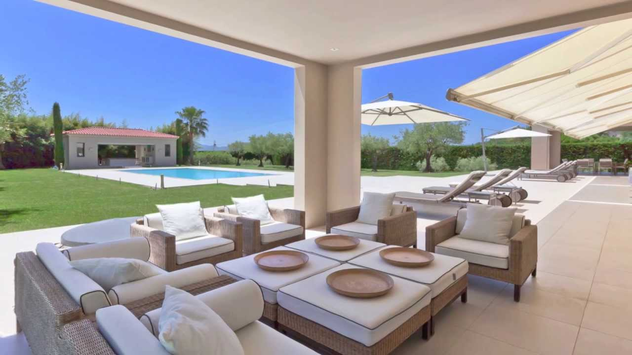 Vente propri t contemporaine mougins terrain de 6700 m avec piscine pool house youtube - Photos pool house piscine ...