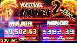 High Limit MUSTANG MONEY 2 Slot $30 Bet Bonus & Bonuses on High Limit Limit Konami Slot Machines