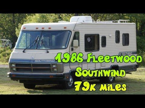 1986 Fleetwood Southwind Motorhome RV recreational vehicle 79k miles