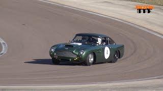 Aston Martin DB4 GT Sound & drifting Dijon-Prenois