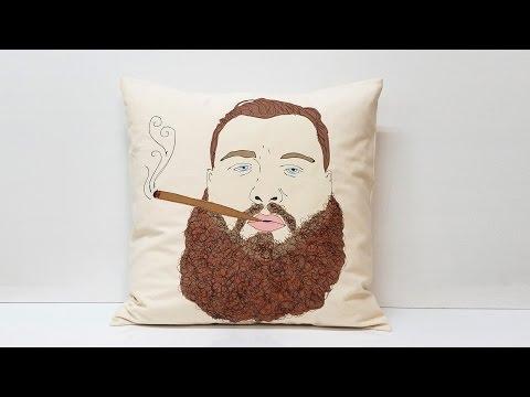 Action Bronson Textile Portrait Pillow - SnapStory