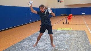 DON'T SPILL CHALLENGE *Slip N Slide Obstacle Course*