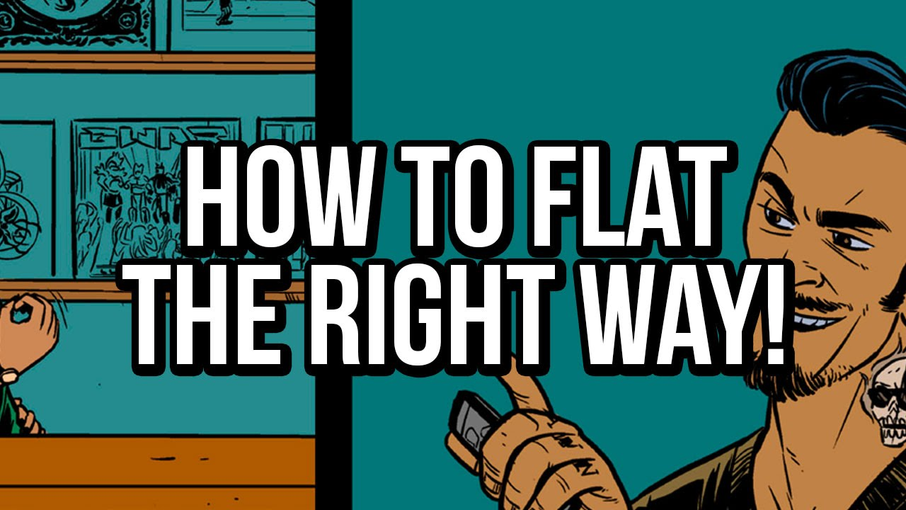 Comic Book Cover Tutorial Photo : How to flat comics properly a flatting tutorial for