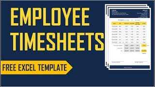 Employee Timesheets Excel Template Time Card Work Hours Calculator Youtube