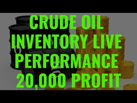 CRUDE OIL INVENTORY LIVE 20,000 PROFIT/- LIVE VIDEO PERFORMANCE. -MOHIT GUPTA MCX COMMODITY