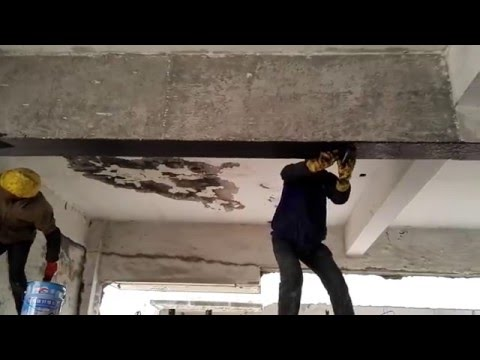 how to strengthening a concrete beam with carbon fiber reinforced polymer