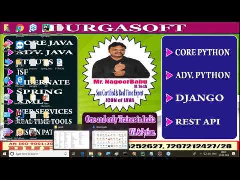 Python Tutorials || Python Work shop || Introduction to Python || by Nagoor Babu sir thumbnail