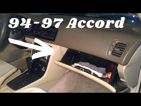 94-97 Honda Accord Glove Box Removal