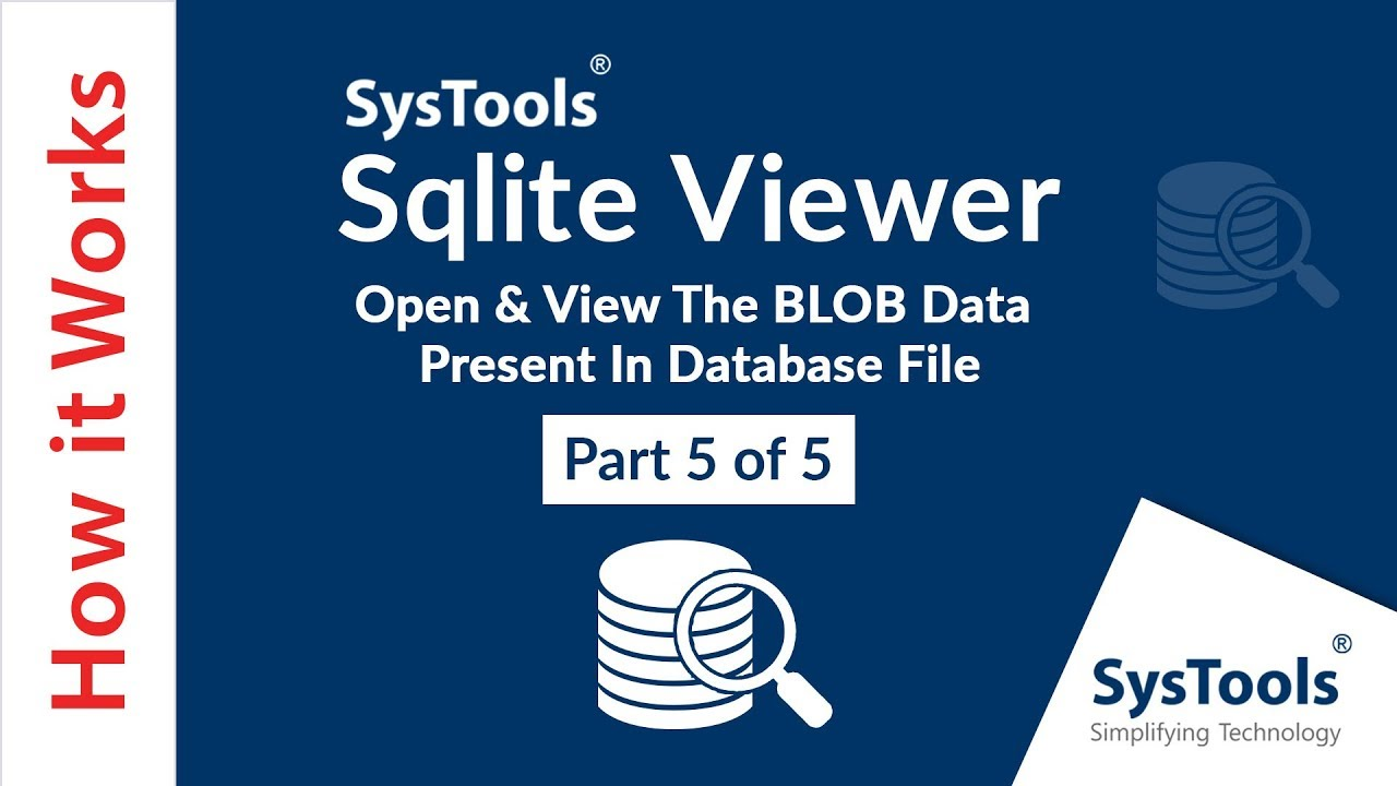 SysTools SQLite Viewer