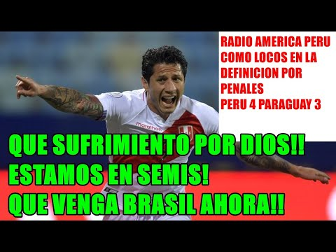 "#RADIO DE PERU COMO LOCOS #PERU 4-3 #PARAGUAY ""QUE LOCURA POR DIOS! SUFRIMIENTO! QUE VENGA BRASIL!"