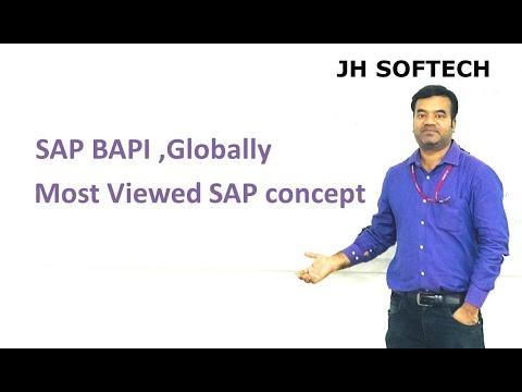 SAP BAPI ,Globally Most Viewed SAP concept - YouTube