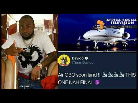 DAVIDO PRIVATE JET A TOTAL LIE?????? COMPANY CLAIMS OWNERSHIP,.........