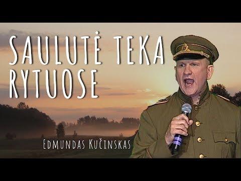 Edmundas Kučinskas - Saulute Teka Rytuose (Official Lyric Video). Lietuviška Daina su Žodžiais