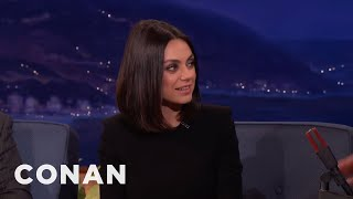 Mila Kunis Donated To Planned Parenthood In Vice President Mike Pence's Name  - CONAN on TBS