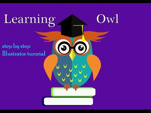 How to creating a learning wise owl character in illustrator