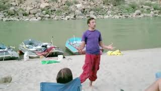 Clip of Virtual Reality Comedy Performed on a Raft trip   Aaron Harrington Stand Up Comedy