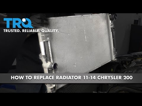 How to Replace Radiator 11-14 Chrysler 200