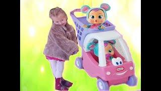 Кукла В СУПЕРМАРКЕТЕ 🍼 Коляска для беби бон  Игры для детей про куклы КАК МАМА игры для детей