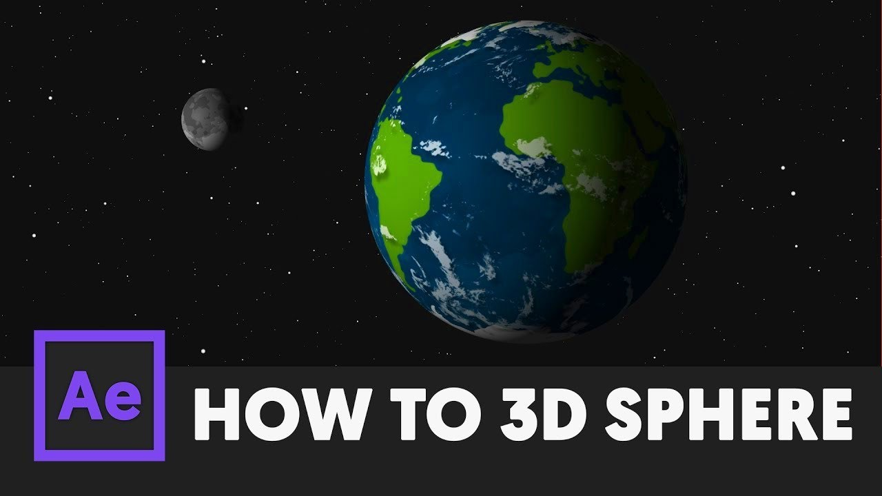 How to make a 3D Sphere - After Effects Tutorial A Spherical Map Of The Earth Is Called on