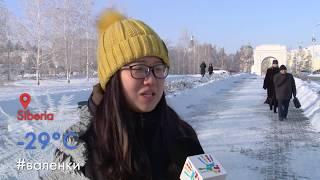 Как иностранцы переживают сибирские морозы?