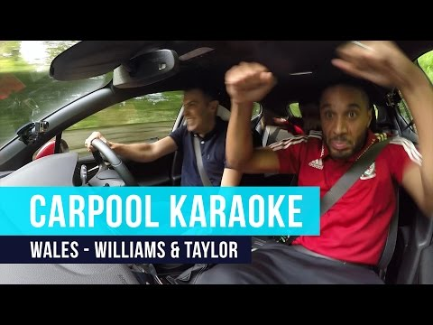 Ashley Williams & Neil Taylor | Carpool Karaoke - Crazy Singing, Rapping, Dancing!