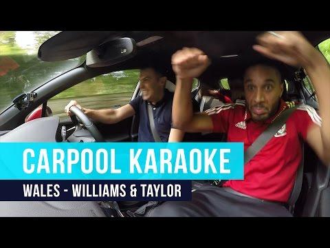 Ashley Williams & Neil Taylor | Carpool Karaoke - Crazy Singing, Rapping, Dancing!