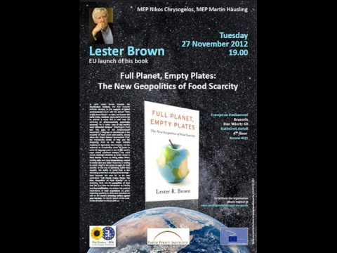 Lester Brown  book presentation - hosted by Nikos Chrysogelos
