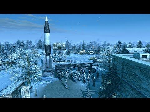 1946 V2 Rocket Launch Facility Defense vs. Soviet Invasion | Men of War: Assault Squad 2