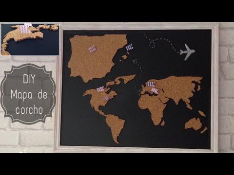 Diy mapa de corcho youtube - Mapa de corcho ...