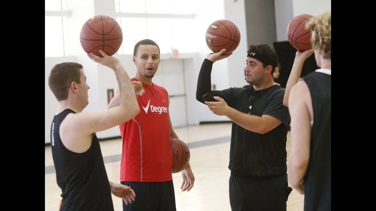 Stephen Curry Teaches BEEF Shot - YouTube