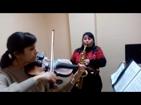 Николаев. Саксофон,скрипка. Анастасия Воронцова  и Светлана Полищук