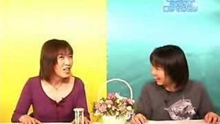 デジキャラットで真田あさみがメグさんにインタビューをする。