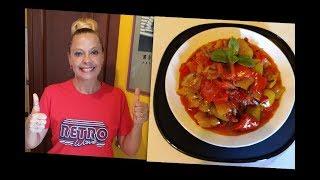 Пепероната - Итальянский салат-закуска  из болгарского перца. Peperonata.  Итальянская кухня