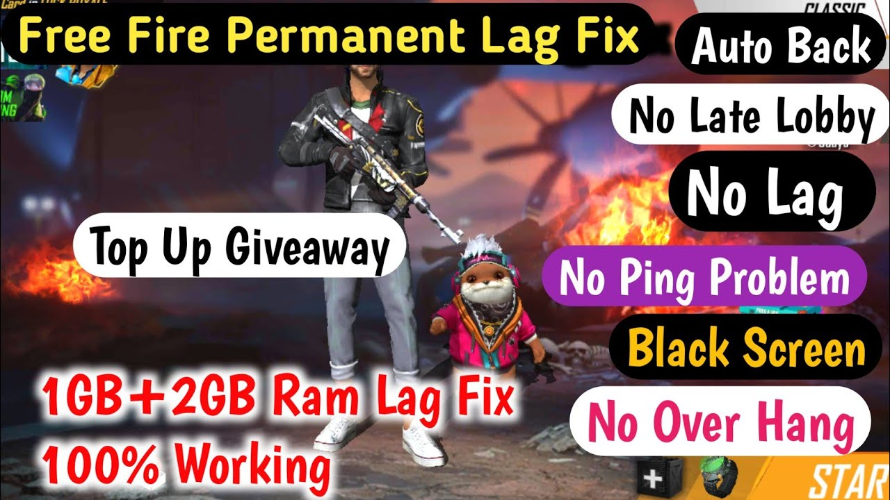 Free Fire Permanent Lag Fix 1GB Ram After New Update l Free fire  Auto Back Problem Fix 1GB-2GB Ram