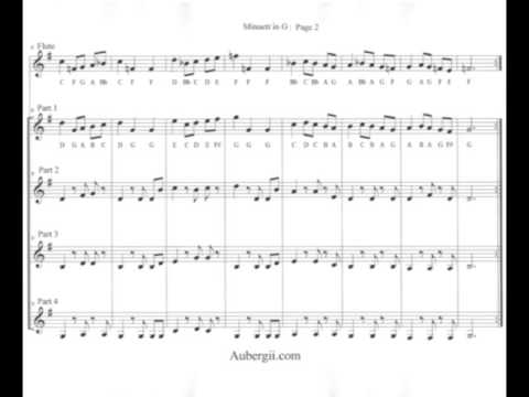 """Play Bach's """"Minuet in G"""" on Clarinet, Flute, Violin, and/or Trumpet"""