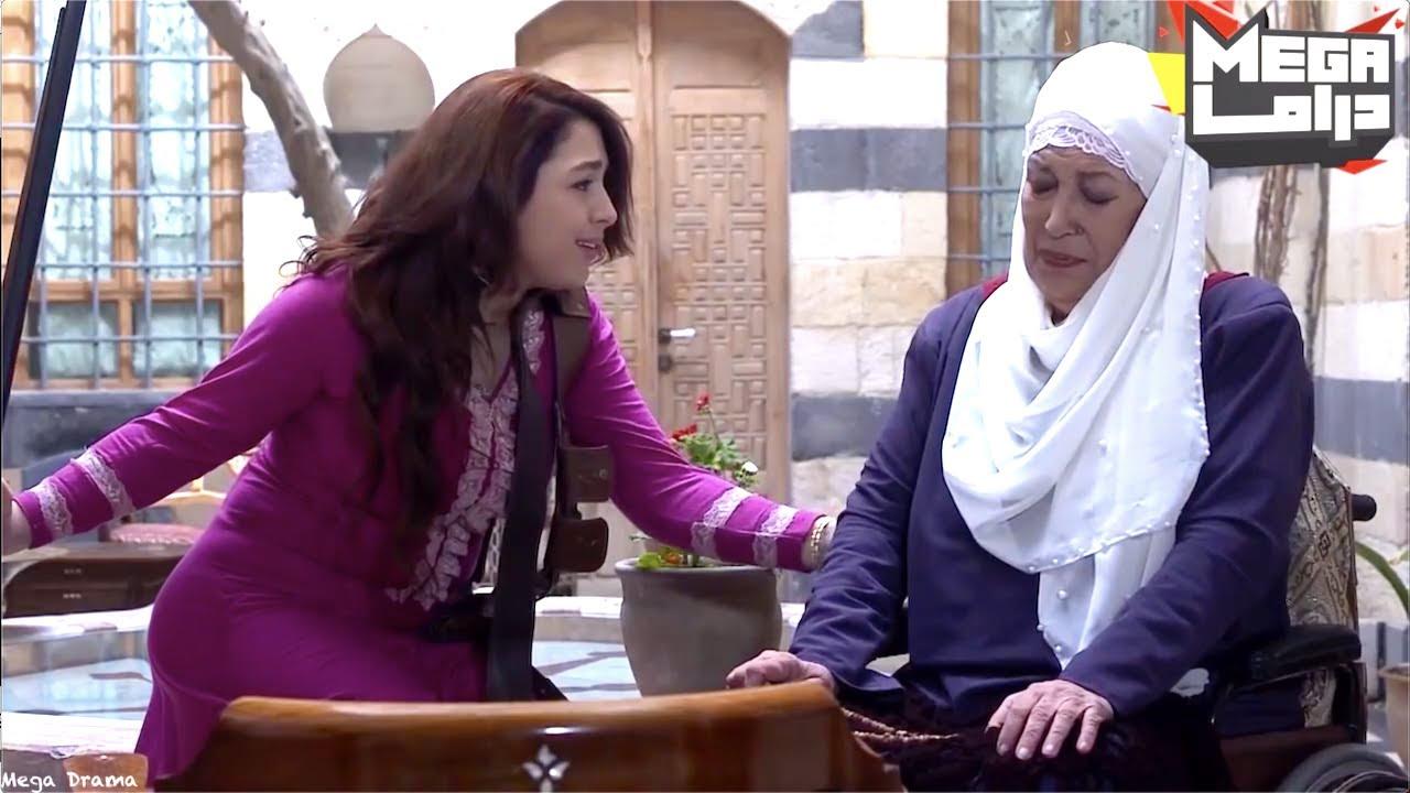 الحرة مال الشام تحمل السلاح بغياب تاج راسها دفاع عن حرمه بيته - مسلسل طوق البنات