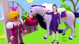 Игрушки Плеймобиль для девочек - День рождения принцессы | @GullGirl