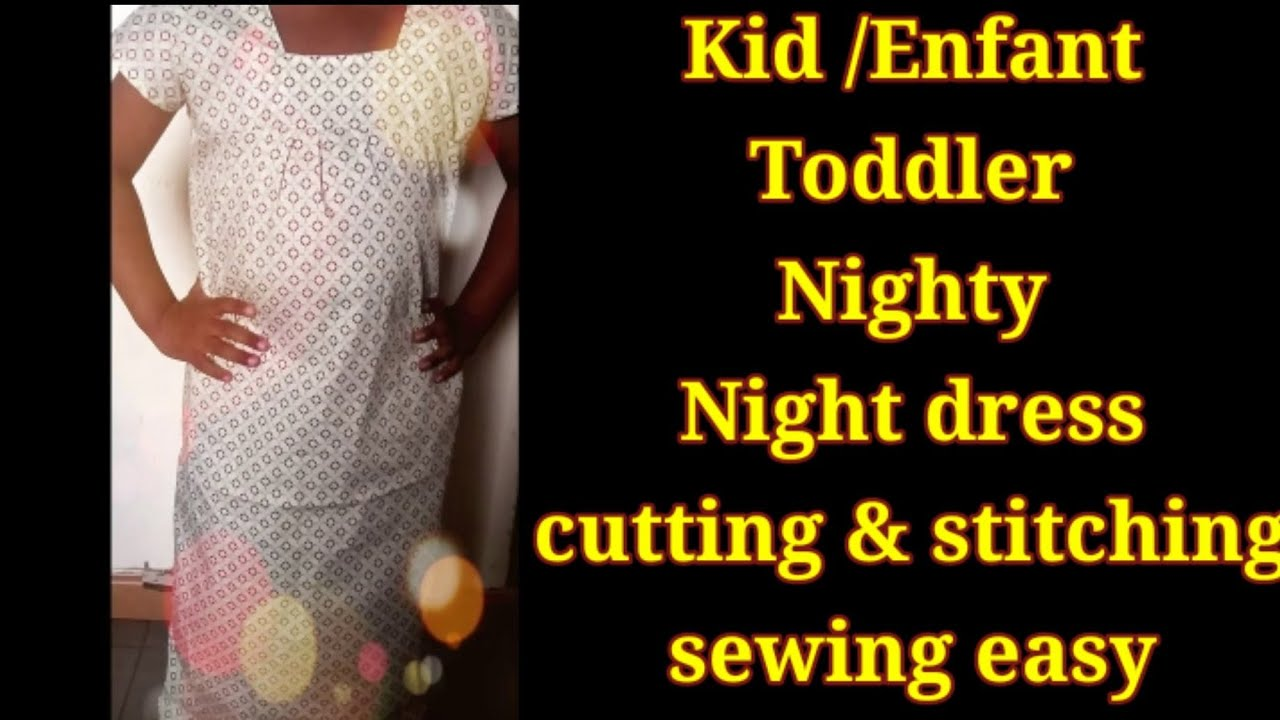 ae18c734db Nighty stitching for kids. Very quick and easy. - YouTube