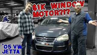 $1,000 for a window motor on a 2005 VW Jetta?!? The CAR WIZARD & HOOVIE were just a shocked as you!