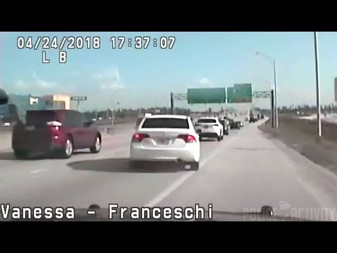 Dashcam Shows Trooper Chasing Down Driver Who Hit Her Patrol Car