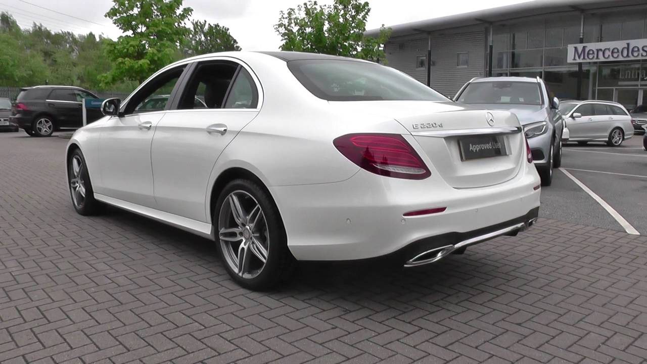 mercedes benz e class saloon 2016 e 220 d amg line u25076. Black Bedroom Furniture Sets. Home Design Ideas